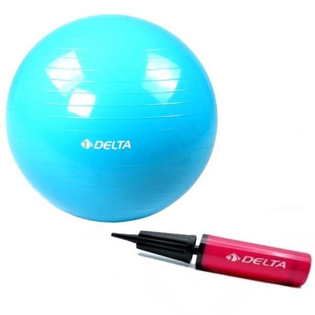 75 cm Mavi Deluxe Pilates Topu 25 cm Pilates Topu Pompası