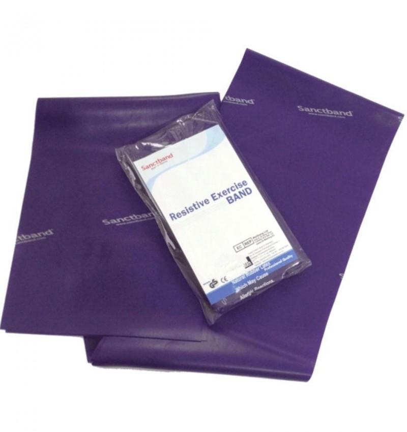 SanctBand 1.5 Metre Elastik Egzersiz Bandı (Mor) Çok Sert