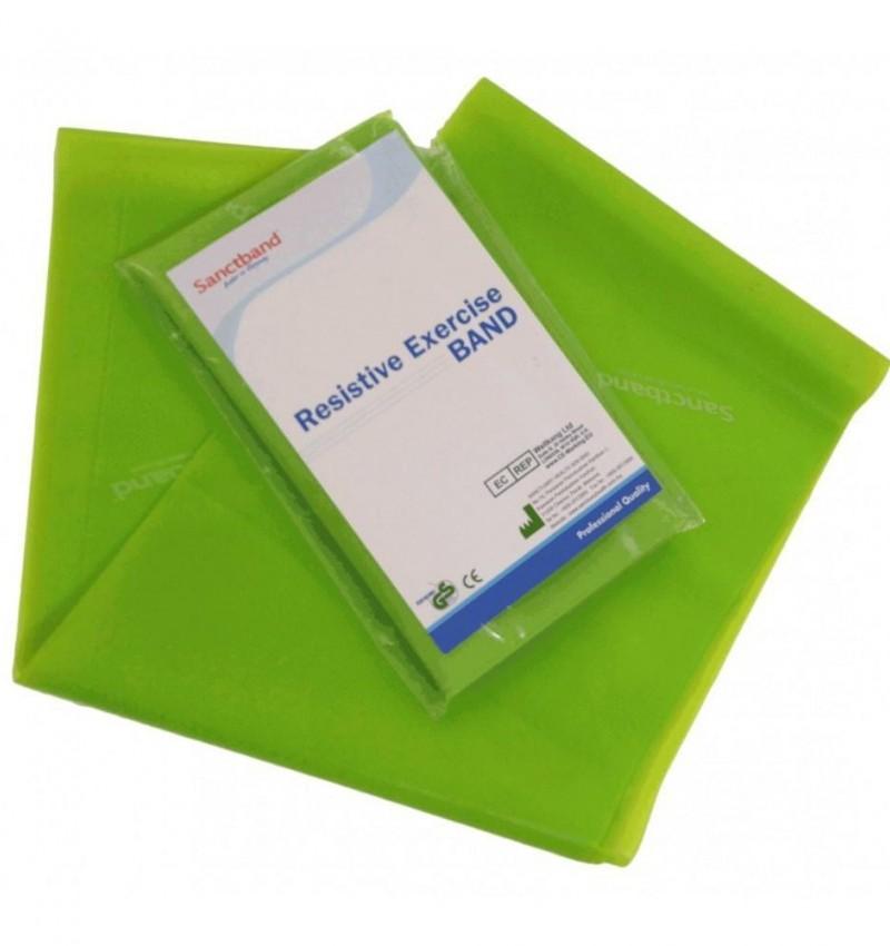 SanctBand 1.5 Metre Elastik Egzersiz Bandı (Yeşil) Orta